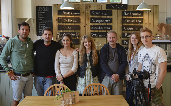 Cast and crew of 'The Hunted'. Left to right: Will Fahy, Arran Dutton, Sophie Goddard-Jones, Louise Ennever, Robert Prince, Hollie Hayton and James Barber. Photo by www.willfahy.co.uk