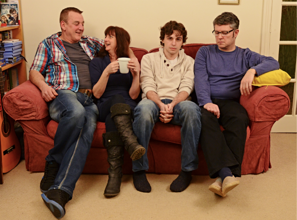 The cast of the series opener, 'Son, We're Swingers'. Left to right: Gary McKinven, Angela Bell, Ethan Chapman and Stuart Packer. Photo by www.willfahy.co.uk