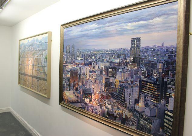 Andrew Price, 'Twilight Osaka', acrylic on board