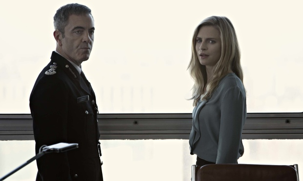 Babylon: James Nesbitt as Richard Miller and Brit Marling as Liz Garvey.