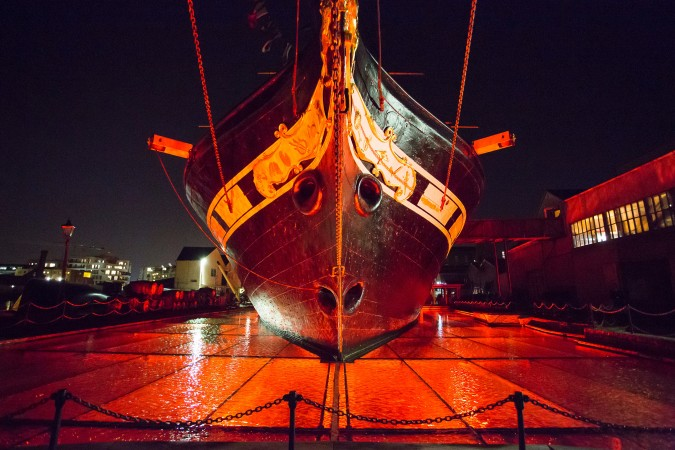 Hallowe'en on board the ss Great Britain with the Bristol Old Vic. 31 October 2014